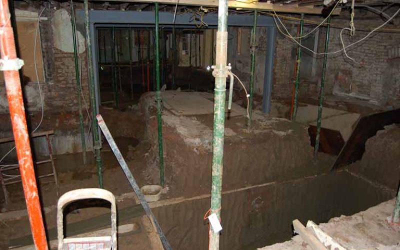 1. Excavation underway