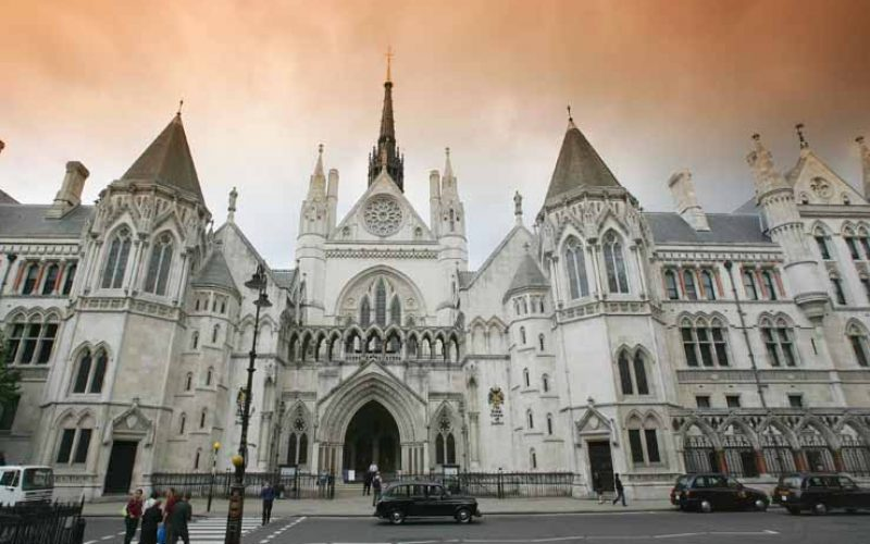THE ROYAL COURTS OF JUSTICE IN CENTRAL LONDON